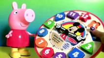 Learn Number Shapes Colors with Disney Mickey Mouse Clubhouse Wooden Clock Hands