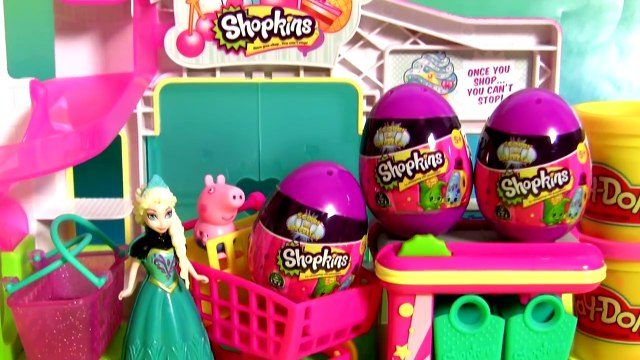 Queen Elsa Shopping For Shopkins Eggs Surprise Toys Disney Frozen at the Superma