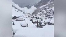 Les images des avalanches qui encerclent Zermatt en Suisse
