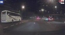 Écosse : Une voiture dérape brusquement sur l'autoroute (vidéo)