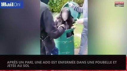 Angleterre : Pour un pari, une ado se fait violenter dans une poubelle (vidéo)