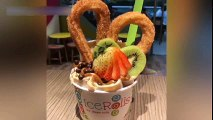 ICE CREAM ROLLS _ NUTELLA Ice Cream VS Strawberry and Banana Ice Cream & Matcha Ice Cream