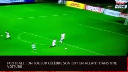 Football : Un joueur célèbre son but en montant dans une voiture (vidéo)