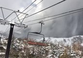 Skier Trapped on Immobile Ski Lift Records Smoke From Volcanic Eruption