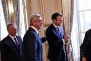 Conférence de presse conjointe du Président de la République, Emmanuel Macron et du Président de la République d'Arménie, Serge Sarkissian.