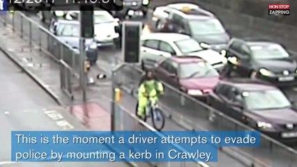 Angleterre : Un jeune conducteur détruit plusieurs voitures en voulant échapper à la police (vidéo)