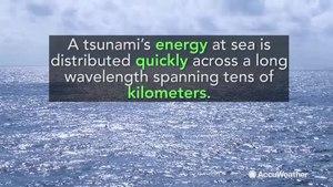 Can a tsunami impact a cruise ship at sea?