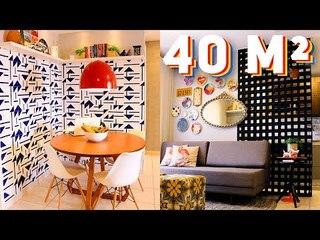 APARTAMENTO PEQUENO E COLORIDO - 40 m² (Projeto de Inscrita)