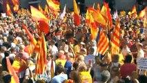 Cientos de miles de manifestantes en Barcelona por la unidad