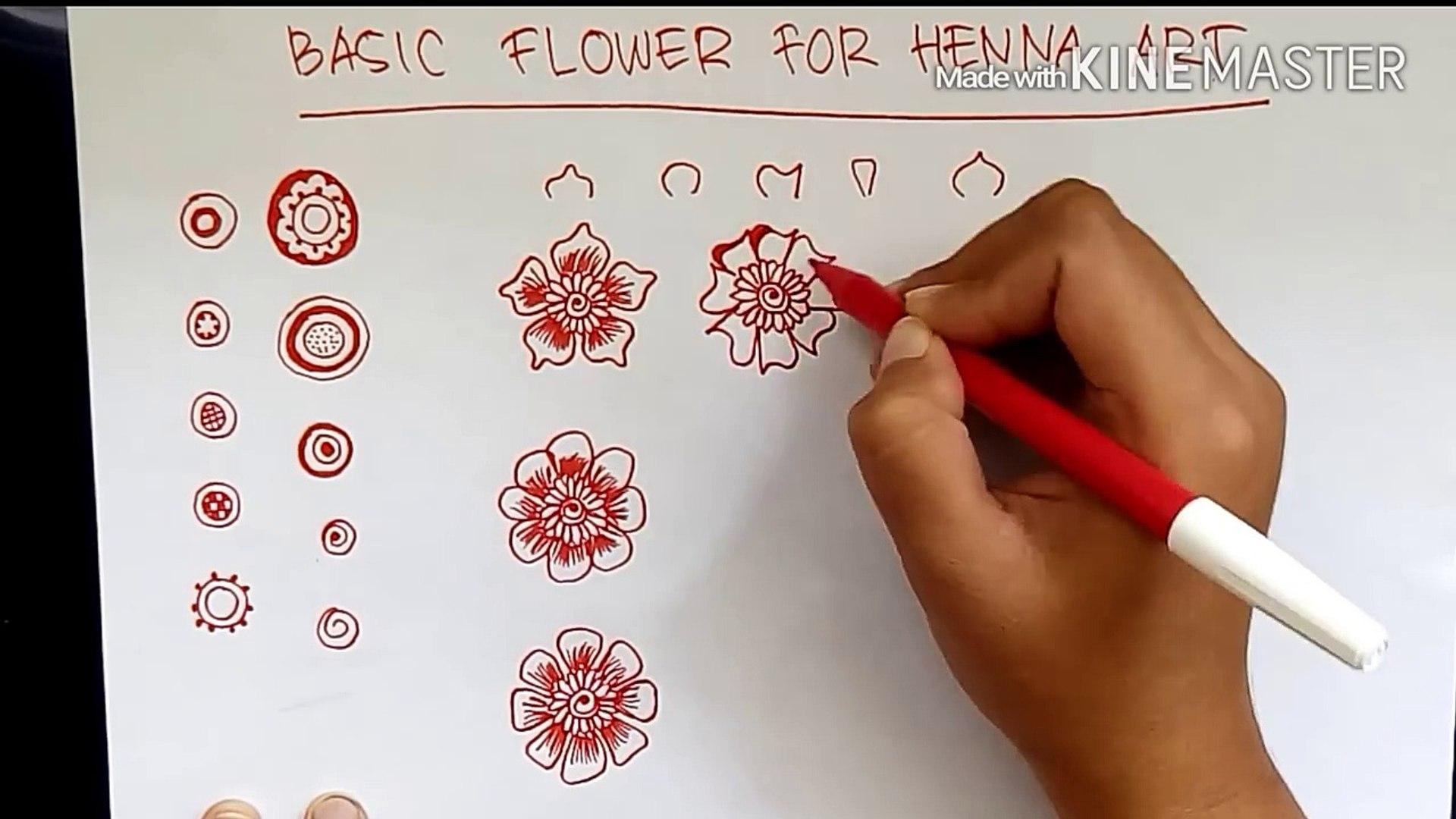 Belajar Henna Untuk Pemula Basic Flower Of Henna Art Video Dailymotion