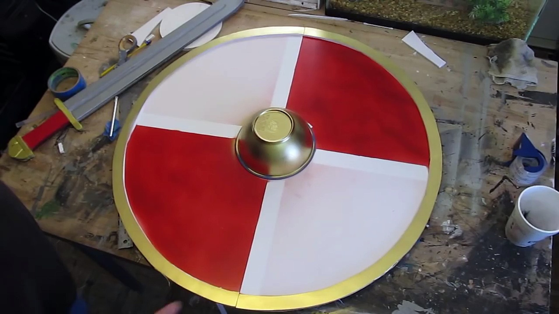 How To Make A Viking Shield Out Of Cardboard Or Foam Board Vidéo Dailymotion