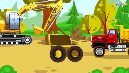La journée du Tracteur - Tracteur agricole et remorque - Dessiné animé en français pour les enfants