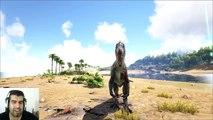 ARK Survival Evolved BARYONYX VS CARNO Batalla dinosaurios arena gameplay español