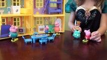 Peppa Pig in Elsas Castle: Disney Frozen Castle, Disney Frozen Toys: Elsa, Anna, Peppa Pig Toy Set