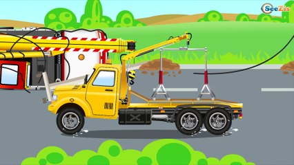The Tow Truck & Car Service - Cars Cartoons about Service Vehicles - Videos for kids