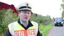 Flucht nach Deutschland - versteckt unter einem Güterzug