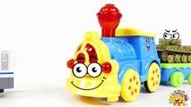 TRAINS FOR CHILDREN VIDEO: Crazy Trains Crash at Railway, Battle Toys for Kinder Surprise
