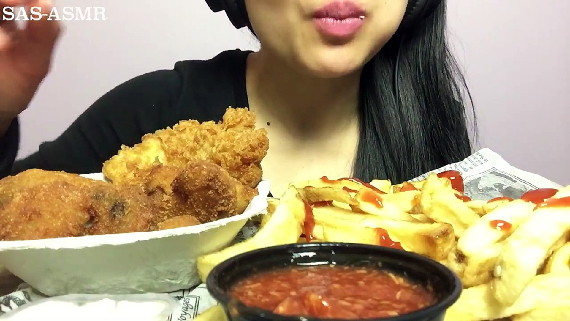 Asmr Deep Fried Oysters Fish Chips Eating Sounds No Talking Sas Asmr Video Dailymotion So initially, it was so hard to choose which video i thought excelled. asmr deep fried oysters fish chips