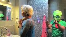 Frozen Elsa CANDY SURPRISE! w/ Spiderman vs Joker Girl Gumballs Angry Baby Superheroes IRL