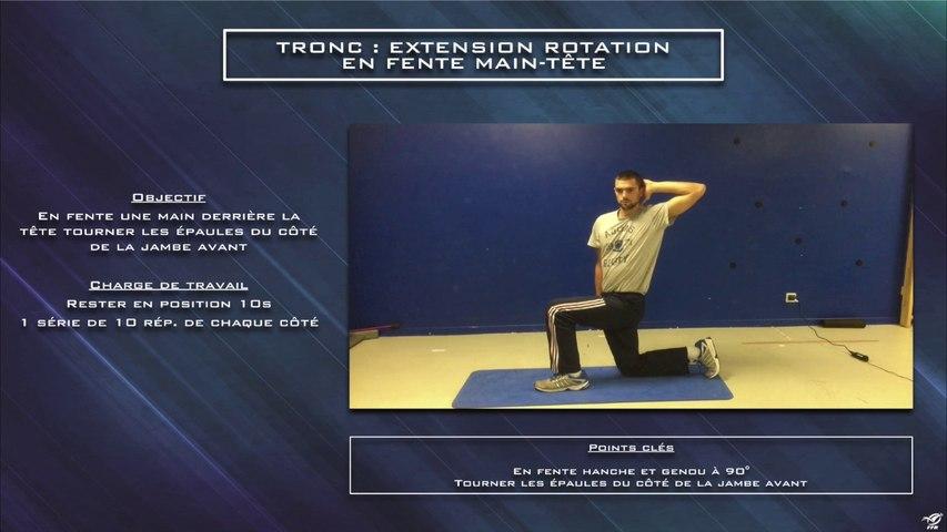 Réhabilitation tronc extension rotation