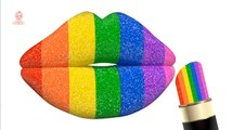Learn Colors with Glitter Color Lipstick - Learn Colours to Kids Children Toddlers Learning Videos