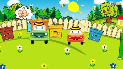 Carros de Carreras es Rojo y El Coche de Policía - Dibujo animado de coches - Carritos Para Niños