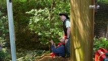 Des cabanes et des hommes arbres centenaires
