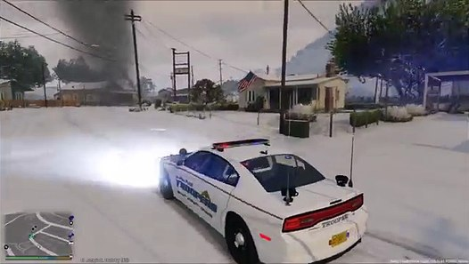 GTA 5 LSPDFR Police Mod Ep 57 | Alaska State Trooper Patrol | Tornado  Strikes During Snow Storm