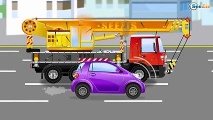 СБОРНИК: Мультфильмы про Машинки Большой Экскаватор и Кран на стройке - Развивающие видео для детей