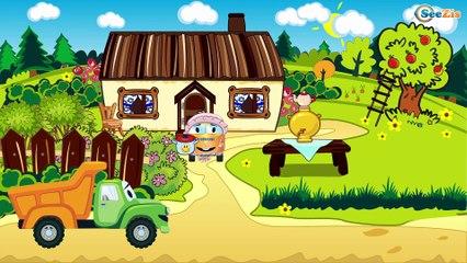 Jeu d'assemblage - Le Camion Rouge et Le Tracteur - Voitures de construction - Voitures Pour Enfants