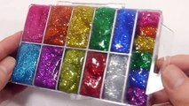 DIY How To Make Rainbow Colors Glitter Case Clay Slime Learn Colors Clay Surprise Egg Slime Toys