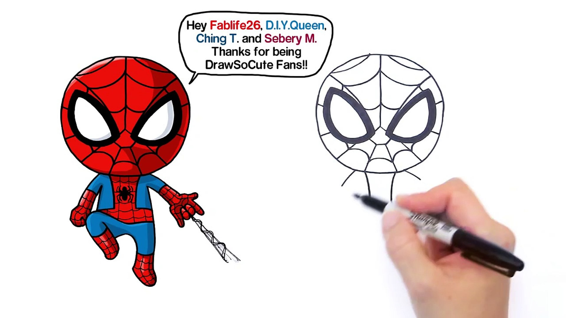 How to Draw Spider-Man Easy | Marvel - Vidéo Dailymotion
