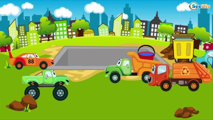 Мультфильмы про Машинки Трактор Павлик КРАН и ГРУЗОВИК Развивающие мультики для детей