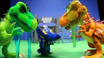 SUPER WINGS Toys Transforming Donnie,Jerome,Jett, Dizzy Visit Jurassic World Unboxing - WD Toys