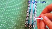 Tutorial Como hacer una pulsera Candy Twist de gomitas ( ligas ) Rainbow Loom bracelet Candy Twist.