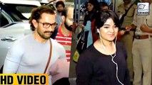 Aamir Khan and Zaira Wasim Spotted At Mumbai Airport
