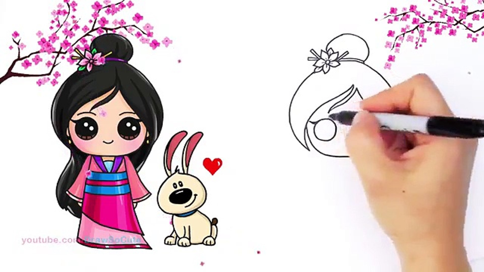 How To Draw Chibi Mulan Step By Step Cute Disney Princess 影片 Dailymotion