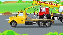 Cars Cartoons about The Crane with The Truck - kids videos compilation with cars, trucks, bus etc