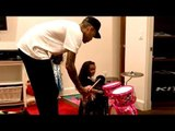 Chris Brown Teaching Daughter Royalty To Play Piano & Drums