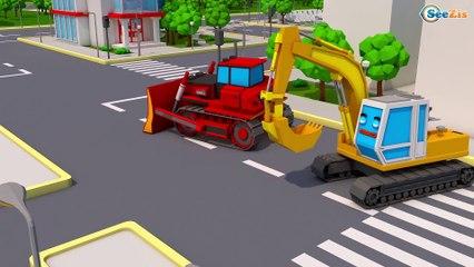 Novo! Super Сaminhão e o Escavadora na Cidade | Desenho animado em portugues