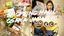 日本大阪藥妝購物分享|Shopping Haul: Osaka, Japan!