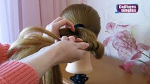 Chignon tressé facile ⭐︎ Tuto Coiffure simple cheveux mi long/long ⭐︎ Coiffure tresse en noeuds