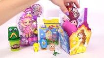Peppa Pig Massinha Play Doh Surpresas Frozen Boneca Shopkins Surprise Eggs Kids Toys