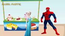 Masha giving ice cream Spiderman and Elsa, PJ Masks Catboy Owlette and Dora Masha and the BEAR