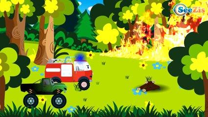 Monster Truck Cartoon   Monster Truck Videos For Kids   Monster Trucks Compilation