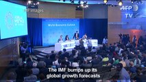 IMF raises global growth forecasts, calls for reforms