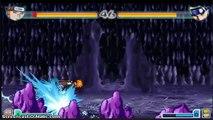 Pain vs Naruto (Kyuubi and Regular) - Bleach vs Naruto 2.1