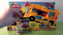 Play Doh Diggin Rigs Buster The Power Crane Unboxing Review, playing with Play-Doh