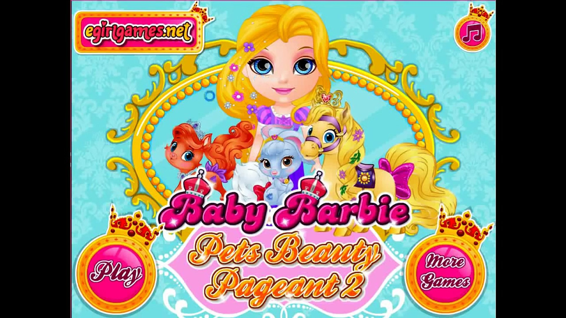 Baby Barbie My Palace Pets Disney Princess Ariel, Jasmine, Cinderella, Belle, Aurora, Rapunzel Pets