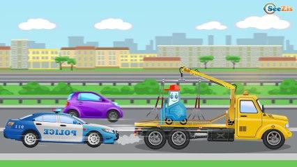 La voiture de police la plus rapide pour bébés - Dessin animé français - Voitures Pour Enfants